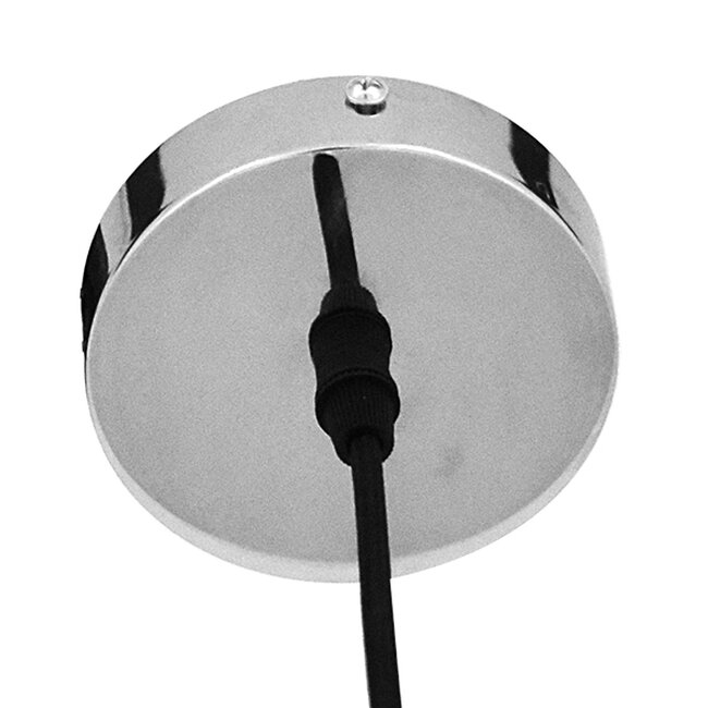 Μοντέρνο Κρεμαστό Φωτιστικό Οροφής Μονόφωτο Γυάλινο Ασημί Νίκελ Φ36  DIXXON CHROME 01464 - 6
