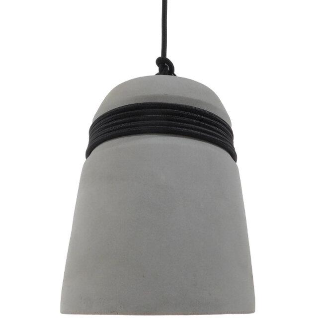 Μοντέρνο Industrial Κρεμαστό Φωτιστικό Οροφής Μονόφωτο Γκρι Τσιμέντο Καμπάνα Φ18  TRIBECA 01320 - 3
