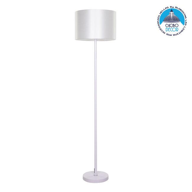 ASHLEY 00823 Μοντέρνο Φωτιστικό Δαπέδου Μονόφωτο Μεταλλικό Λευκό με Καπέλο Φ35 x Υ145cm - 1