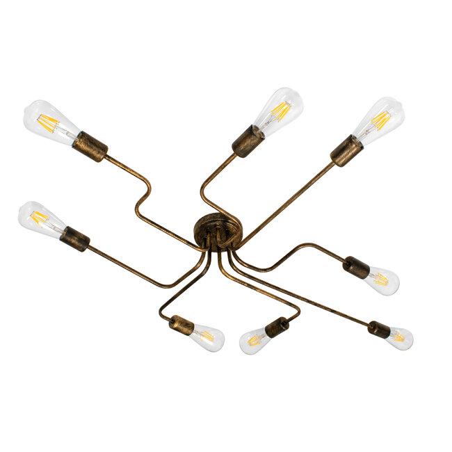 LIBERTA 00841 Μοντέρνο Φωτιστικό Οροφής Πολύφωτο Χάλκινο Σκουριά Μ102 x Π72 x Υ10.5cm - 2