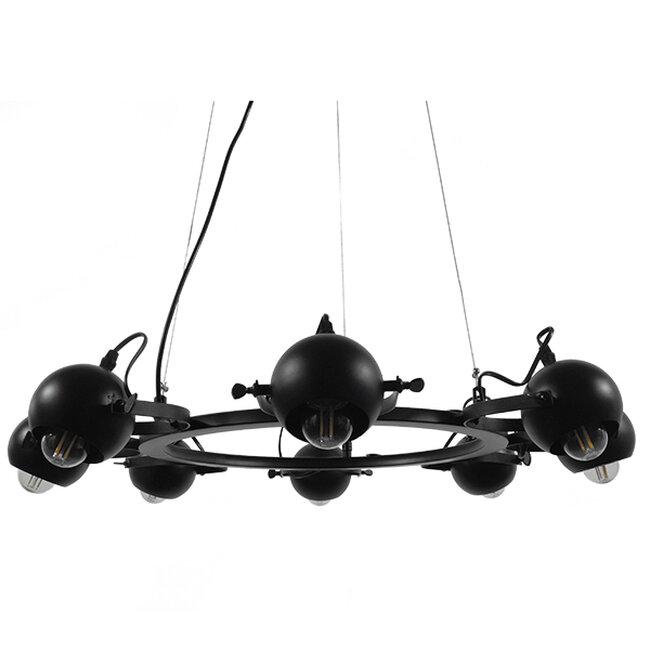 Μοντέρνο Industrial Κρεμαστό Φωτιστικό Οροφής Πολύφωτο Μαύρο Μεταλλικό Πολυέλαιος με Κινούμενα Σποτ Φ66  LINNYA 01219 - 9