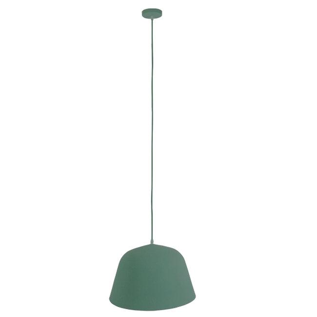 Μοντέρνο Κρεμαστό Φωτιστικό Οροφής Μονόφωτο Γκρι Πράσινο Μεταλλικό Καμπάνα Φ40  UPVALE 01285 - 2