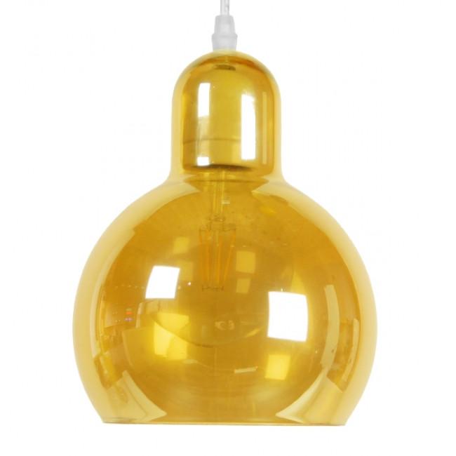 Μοντέρνο Κρεμαστό Φωτιστικό Οροφής Μονόφωτο Γυάλινο Μελί Διάφανο Φ18 GloboStar LUNATICA 01315 - 3
