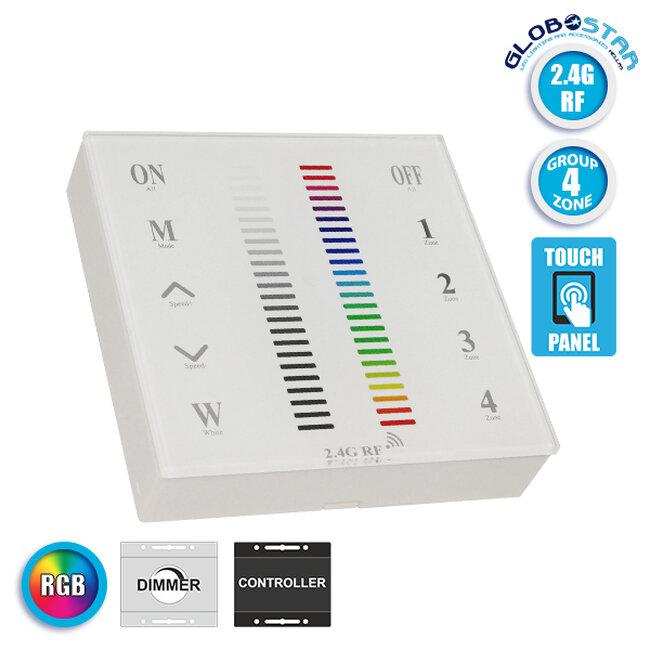 Ασύρματο LED RGB Χειριστήριο Αφής και Τοίχου 2.4G RF Έως και 4 Διαφορετικά Groups DC  73417 - 1