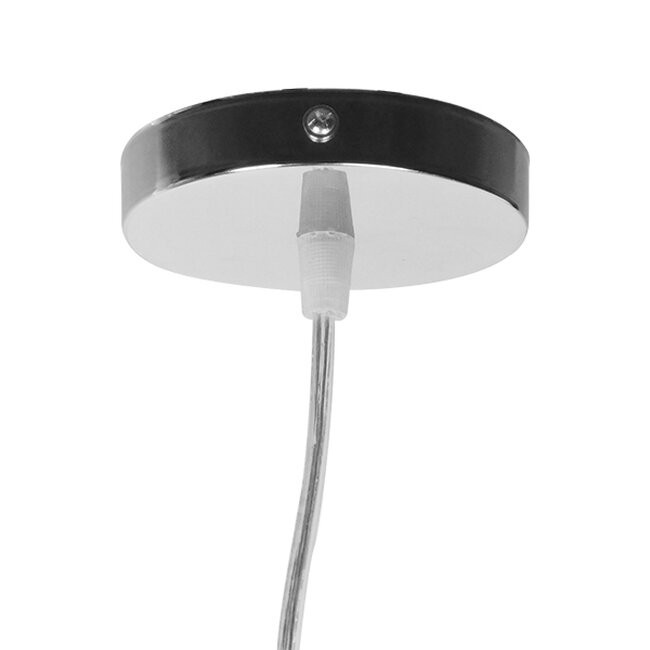Vintage Κρεμαστό Φωτιστικό Οροφής Μονόφωτο Μπεζ Ξύλινο Ψάθινο Rattan Φ20 GloboStar RA 01200 - 7