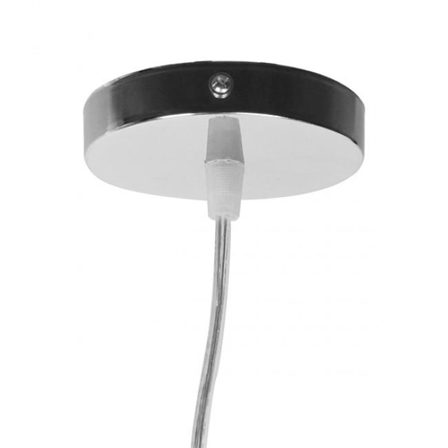 Vintage Κρεμαστό Φωτιστικό Οροφής Μονόφωτο Μπεζ Χρυσό Ξύλινο Ψάθινο Rattan Φ40 GloboStar WOTAN 01357 - 7