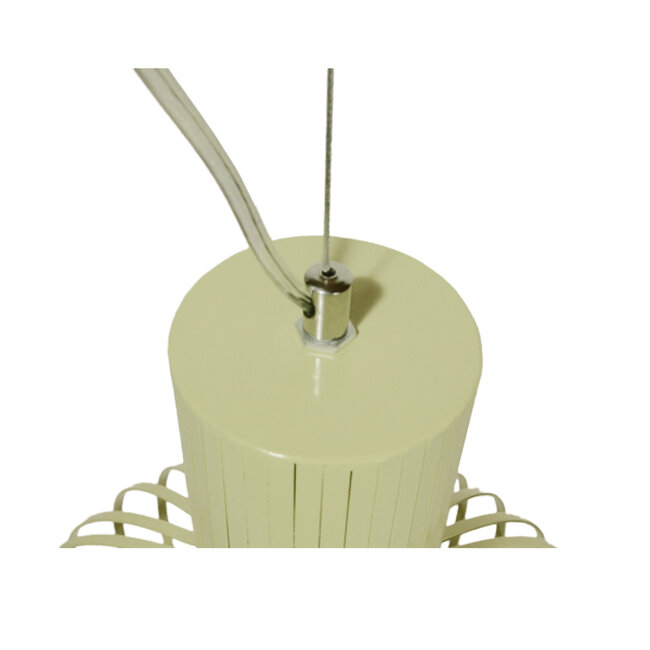 Vintage Industrial Κρεμαστό Φωτιστικό Οροφής Μονόφωτο Μπεζ Μεταλλικό Πλέγμα Φ38  GOBLET LIGHT 01267 - 5