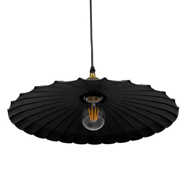 Vintage Industrial Κρεμαστό Φωτιστικό Οροφής Μονόφωτο Μαύρο Μεταλλικό Καμπάνα Ø40xY15cm GloboStar MARGI Ø40 00982 - 5