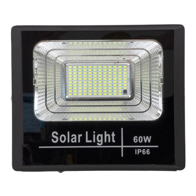 71556 Αυτόνομος Ηλιακός Προβολέας LED SMD 60W 4800lm με Ενσωματωμένη Μπαταρία 10000mAh - Φωτοβολταϊκό Πάνελ με Αισθητήρα Ημέρας-Νύχτας και Ασύρματο Χειριστήριο RF 2.4Ghz Αδιάβροχος IP66 Ψυχρό Λευκό 6000K - 5