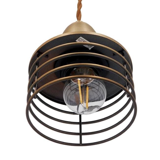 Μοντέρνο Industrial Κρεμαστό Φωτιστικό Οροφής Μονόφωτο Μεταλλικό Χρυσό Καμπάνα Φ11  MANHATTAN GOLD 01454 - 6