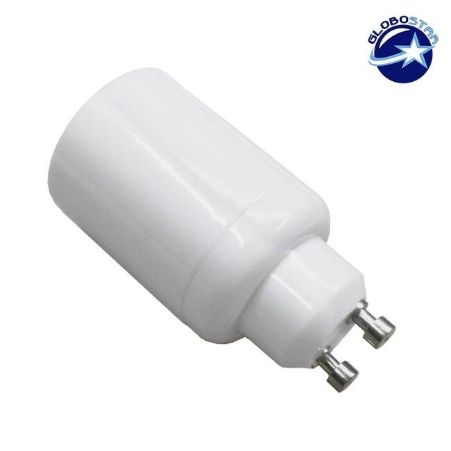 Πλαστικός Αντάπτορας από GU10 σε E27 GloboStar 78976