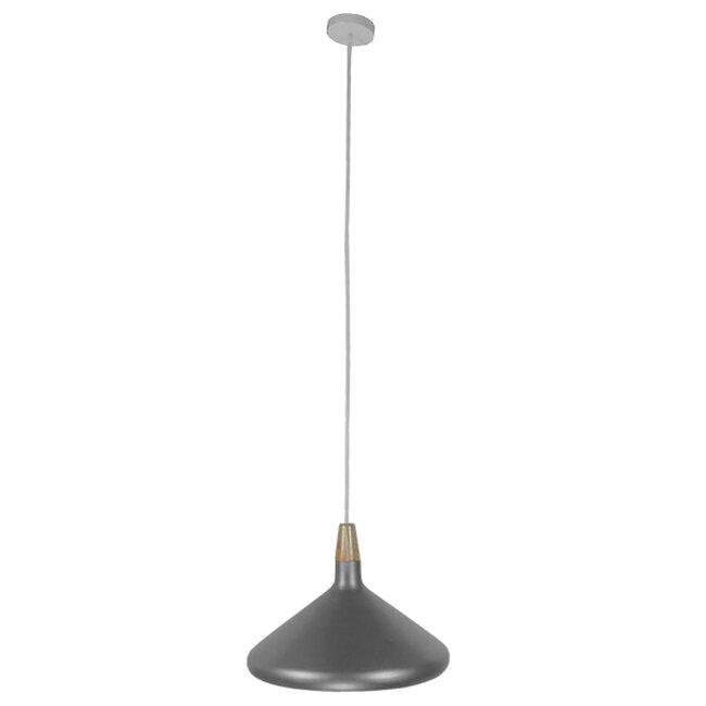 Μοντέρνο Κρεμαστό Φωτιστικό Οροφής Μονόφωτο Ασημί Μεταλλικό Καμπάνα Φ39  FELICITA 01276 - 2