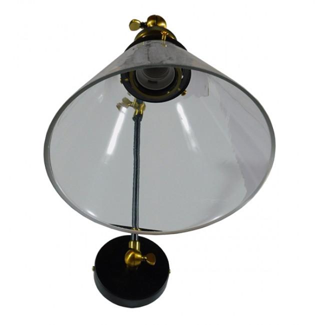 Vintage Φωτιστικό Τοίχου Απλίκα Μονόφωτο με Σπαστό Μεταλλικό Βραχίονα και Γυάλινη Καμπάνα Φ19 GloboStar OLIVIA 01068 - 5