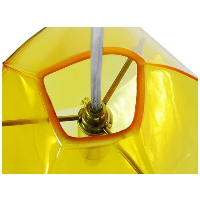 Μοντέρνο Κρεμαστό Φωτιστικό Οροφής Μονόφωτο Γυάλινο Κίτρινο Διάφανο GloboStar RINA 01308 - 5