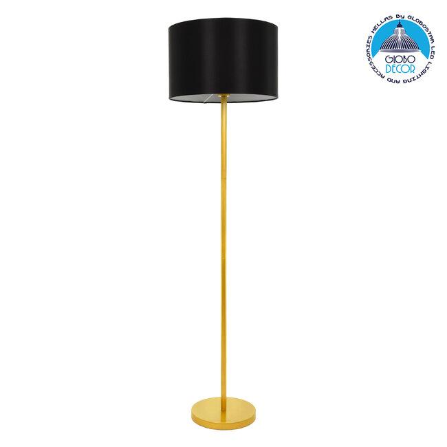 ASHLEY 00825 Μοντέρνο Φωτιστικό Δαπέδου Μονόφωτο Μεταλλικό Χρυσό με Μαύρο Καπέλο Φ40 x Υ148cm - 1