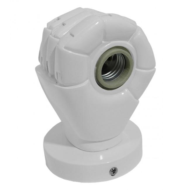 Μοντέρνο Φωτιστικό Τοίχου Απλίκα Μονόφωτο Λευκό Γύψινο  FIST WHITE 01137 - 5