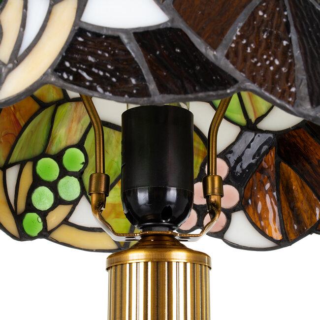 DRAGONFLY TIFFANY 00734 ΣΕΤ 2 Μοντέρνα Επιτραπέζια Φωτιστικά Πορτατίφ Μονόφωτα Μεταλλικά με Γυαλί Πολύχρωμο & Χρυσό Φ27 x Υ44cm Σετ 2 Τεμαχίων - 10