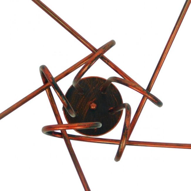 Μοντέρνο Industrial Φωτιστικό Οροφής Πολύφωτο Καφέ Σκουριά Μεταλλικό Φ76  QUARZO 01564 - 7