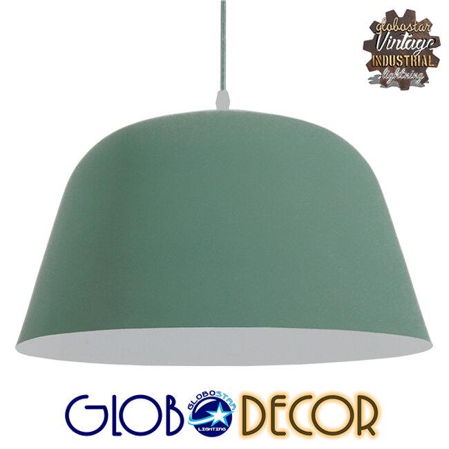 Μοντέρνο Κρεμαστό Φωτιστικό Οροφής Μονόφωτο Γκρι Πράσινο Μεταλλικό Καμπάνα Φ40  UPVALE 01285 - 1