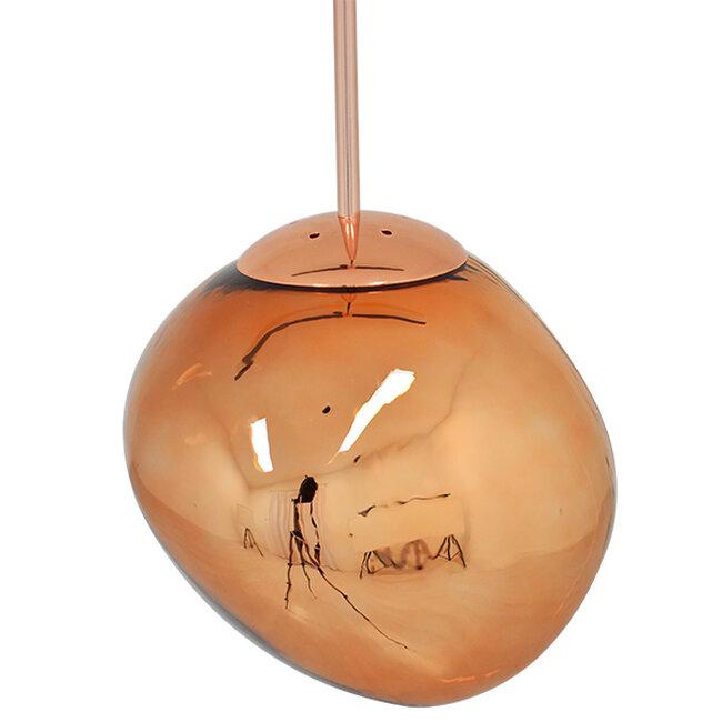 Μοντέρνο Κρεμαστό Φωτιστικό Οροφής Μονόφωτο Γυάλινο Χάλκινο Φ28  DIXXON COPPER 01461 - 4