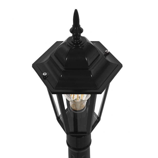 Vintage Industrial Φωτιστικό Δαπέδου Μονόφωτο Μαύρο Μεταλλικό Πλέγμα GloboStar ELLIPSE 01401 - 6