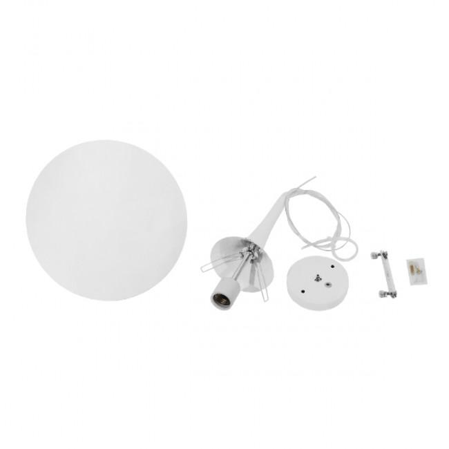 Μοντέρνο Κρεμαστό Φωτιστικό Οροφής Μονόφωτο Λευκό Γυάλινο Φ25  SPHERE 01143 - 7
