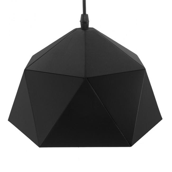 Μοντέρνο Κρεμαστό Φωτιστικό Οροφής Μονόφωτο Μαύρο Χρυσό Μεταλλικό Καμπάνα Φ25  SYLRA 01194 - 4