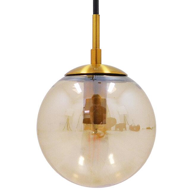 Μοντέρνο Φωτιστικό Τοίχου Απλίκα Μονόφωτο Χρυσό με Μελί Γυαλί Φ15  MADISON 01427 - 6