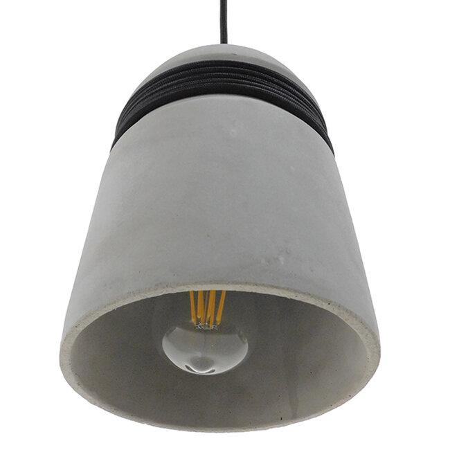 Μοντέρνο Industrial Κρεμαστό Φωτιστικό Οροφής Μονόφωτο Γκρι Τσιμέντο Καμπάνα Φ18  TRIBECA 01320 - 6