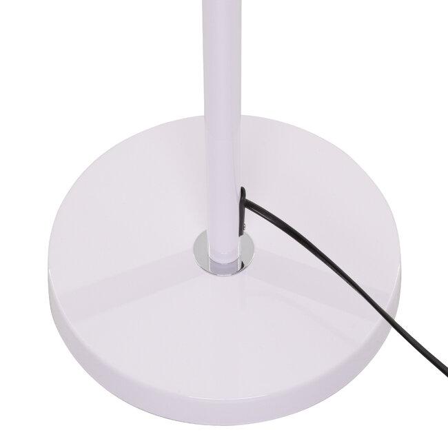 ASHLEY 00826 Μοντέρνο Φωτιστικό Δαπέδου Μονόφωτο Μεταλλικό Λευκό με Καπέλο και Ξύλινη Λεπτομέρεια Φ40 x Υ145cm - 7