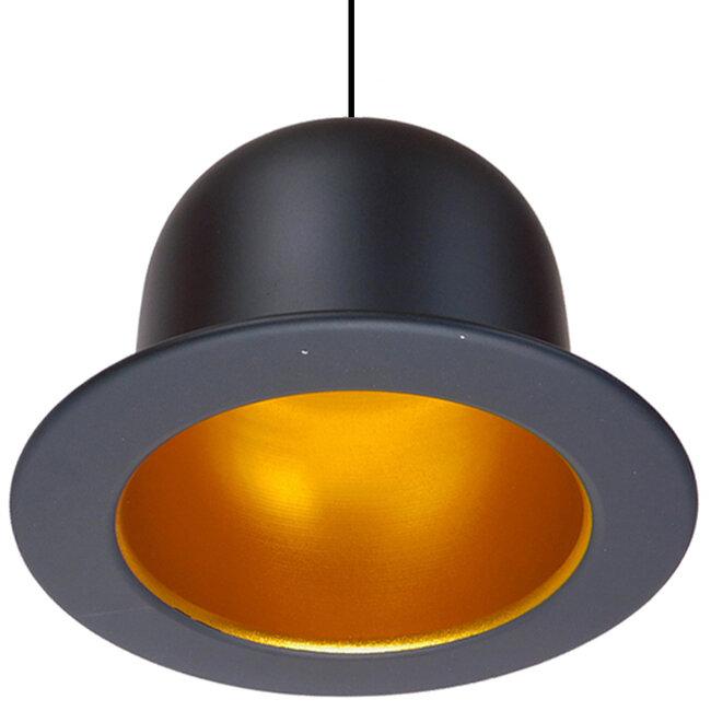 Vintage Κρεμαστό Φωτιστικό Οροφής Μονόφωτο Μαύρο Μεταλλικό Καμπάνα Φ26  CHARLO 01214 - 4
