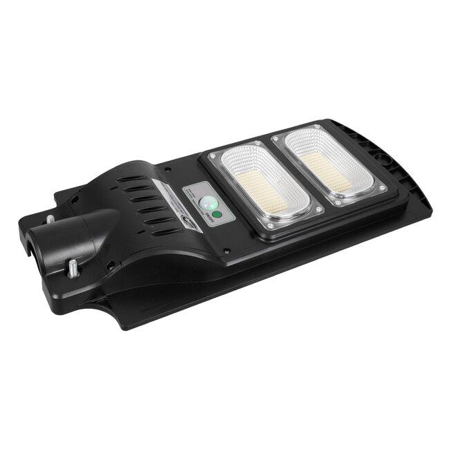 GloboStar® 71551 Αυτόνομο Ηλιακό Φωτιστικό Δρόμου Street Light All In One LED SMD 100W 8000lm με Ενσωματωμένη Μπαταρία Li-ion 5500mAh - Φωτοβολταϊκό Πάνελ με Αισθητήρα Ημέρας-Νύχτας PIR Αισθητήρα Κίνησης και Ασύρματο Χειριστήριο RF 2.4Ghz Αδιάβροχο I - 7