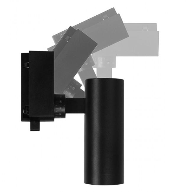 Μονοφασικό Bridgelux COB LED Μάυρο Φωτιστικό Σποτ Ράγας 10W 230V 1250lm 30° Φυσικό Λευκό 4500k GloboStar 93094 - 7