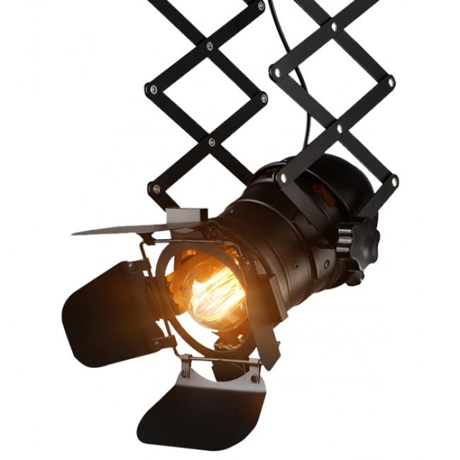 Vintage Industrial Φωτιστικό Οροφής Μονόφωτο Μαύρο Μεταλλικό GloboStar BROADWAY 01140 - 6