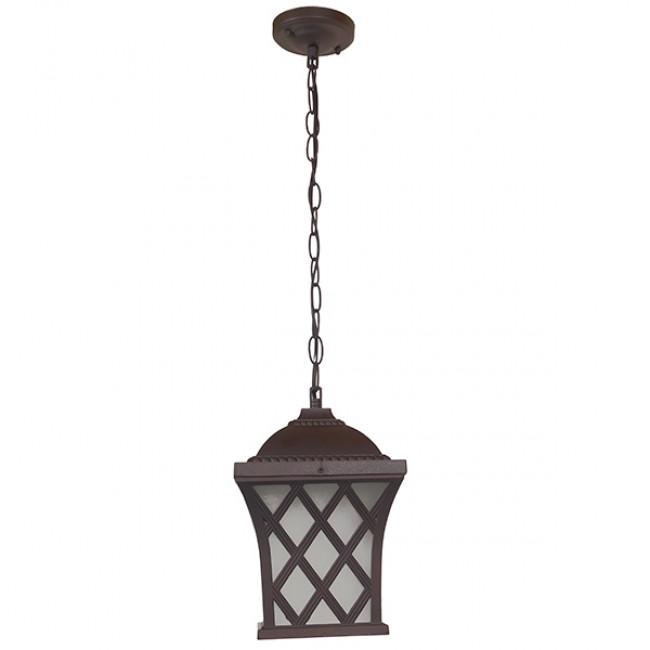 Vintage Industrial Κρεμαστό Φωτιστικό Οροφής Μονόφωτο Μπρονζέ Μεταλλικό Πλέγμα GloboStar LINCOLN 01399 - 4