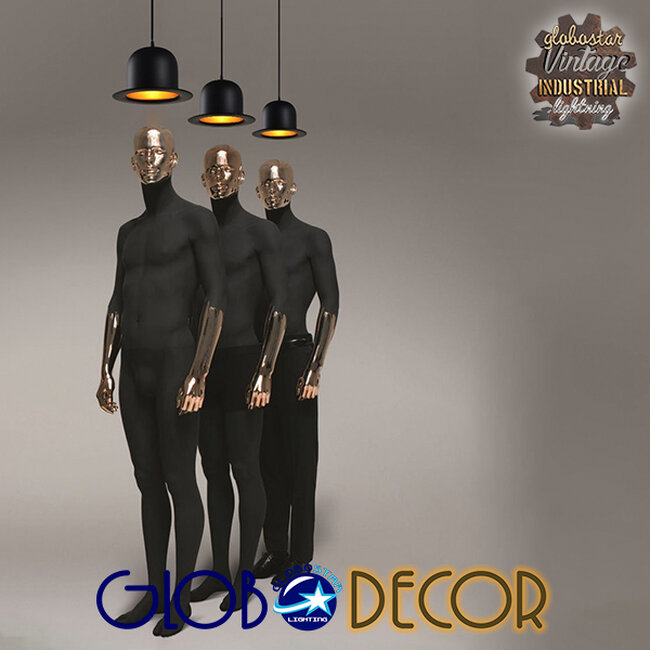 Vintage Κρεμαστό Φωτιστικό Οροφής Μονόφωτο Μαύρο Μεταλλικό Καμπάνα Φ26  CHARLO 01214 - 7