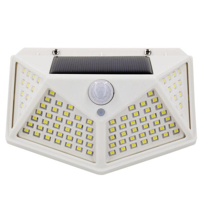 71498 Αυτόνομο Ηλιακό Φωτιστικό LED SMD 10W 1000lm με Ενσωματωμένη Μπαταρία 1200mAh - Φωτοβολταϊκό Πάνελ με Αισθητήρα Ημέρας-Νύχτας και PIR Αισθητήρα Κίνησης IP65 Ψυχρό Λευκό 6000K - 7