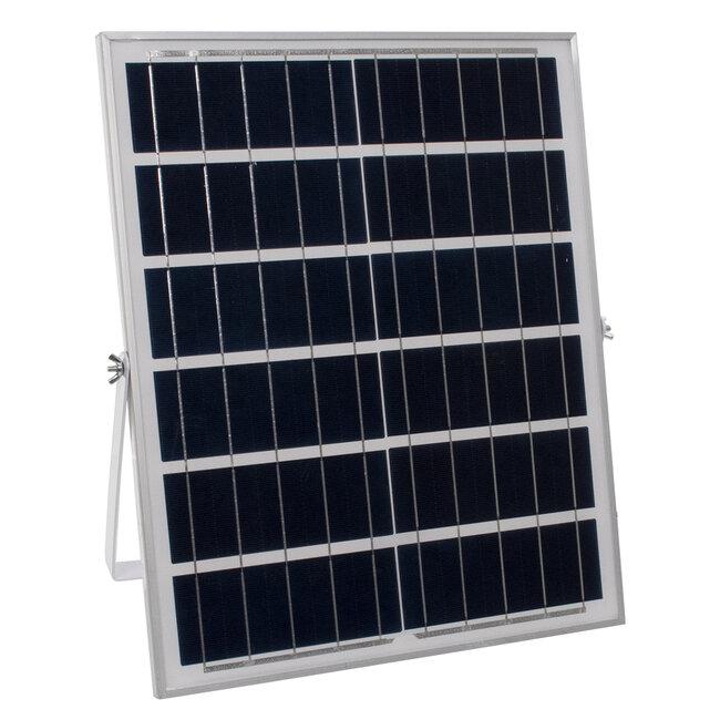 71556 Αυτόνομος Ηλιακός Προβολέας LED SMD 60W 4800lm με Ενσωματωμένη Μπαταρία 10000mAh - Φωτοβολταϊκό Πάνελ με Αισθητήρα Ημέρας-Νύχτας και Ασύρματο Χειριστήριο RF 2.4Ghz Αδιάβροχος IP66 Ψυχρό Λευκό 6000K - 7
