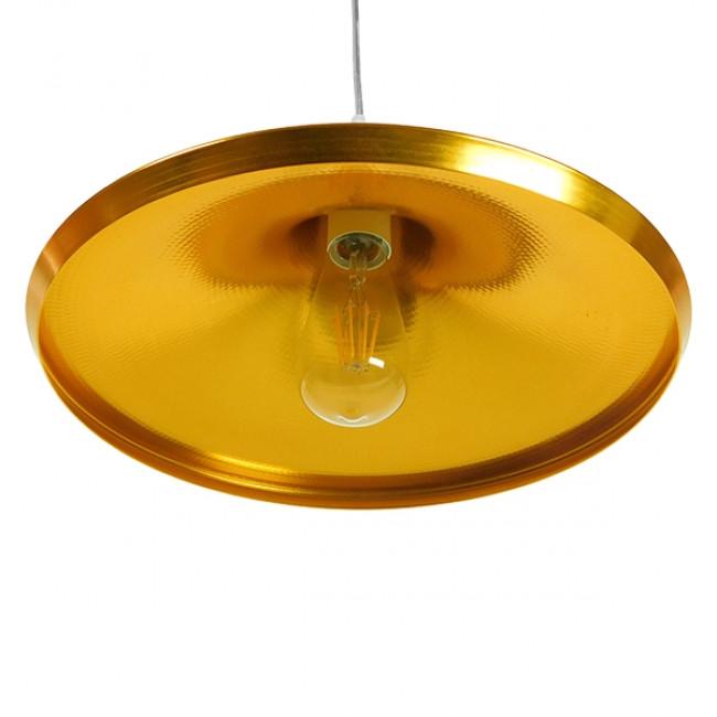 Μοντέρνο Κρεμαστό Φωτιστικό Οροφής Μονόφωτο Χρυσό Μεταλλικό Καμπάνα Φ37  JIAXING 01545 - 5