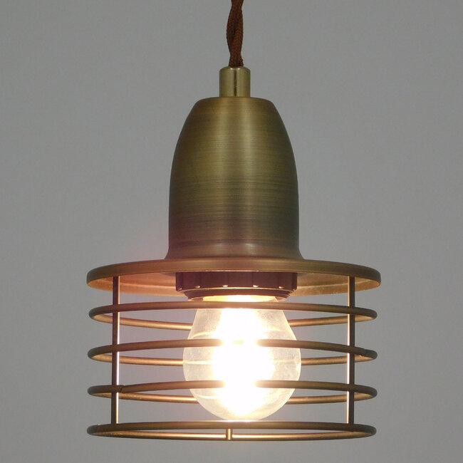Μοντέρνο Industrial Κρεμαστό Φωτιστικό Οροφής Μονόφωτο Μεταλλικό Χρυσό Καμπάνα Φ11  MANHATTAN GOLD 01454 - 3