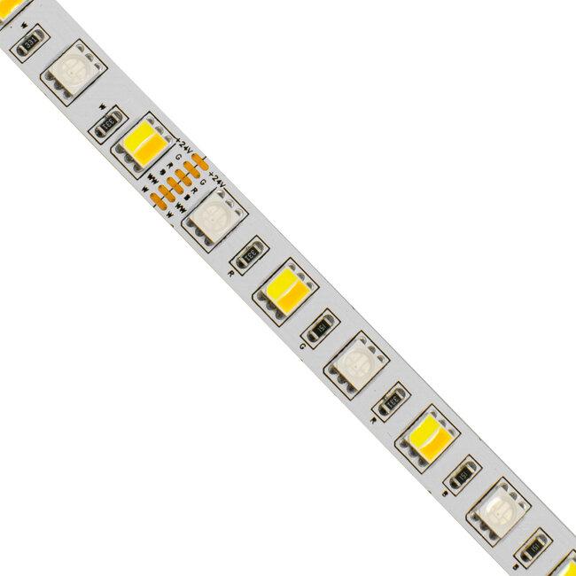 GloboStar® 70266 Ταινία LED SMD 5050 RGBW + WW 5in1 5m 18W/m 72LED/m 120° DC 24V IP20 1150lm/m Ψυχρό Λευκό 6000k & 1050lm/m Θερμό Λευκό 3000k & 900lm/m RGB - 3