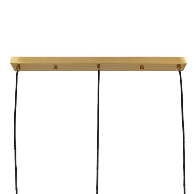 Μοντέρνο Κρεμαστό Φωτιστικό Οροφής Τρίφωτο Μελί Χρυσό με Γυαλί  KETALIN 00977 - 5