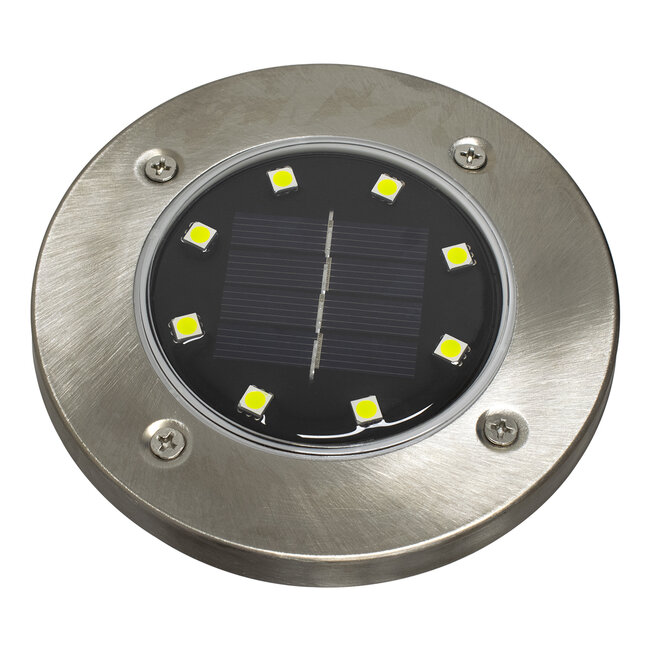 GloboStar® 71504 Αυτόνομο Ηλιακό Φωτιστικό Κήπου LED SMD 3W 200 lm με Ενσωματωμένη Μπαταρία 600mAh - Φωτοβολταϊκό Πάνελ με Αισθητήρα Ημέρας-Νύχτας IP65 Ψυχρό Λευκό 6000k - 3