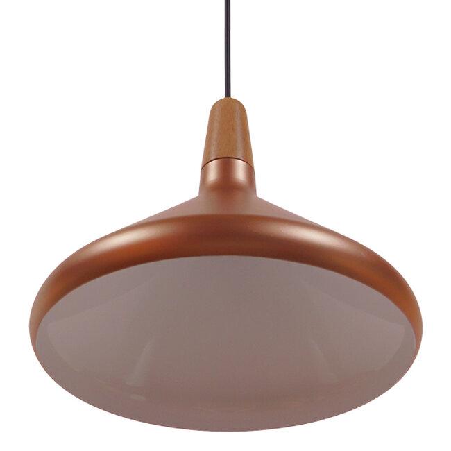 Μοντέρνο Κρεμαστό Φωτιστικό Οροφής Μονόφωτο Χάλκινο Μεταλλικό Καμπάνα Φ27  BARING 01224 - 4