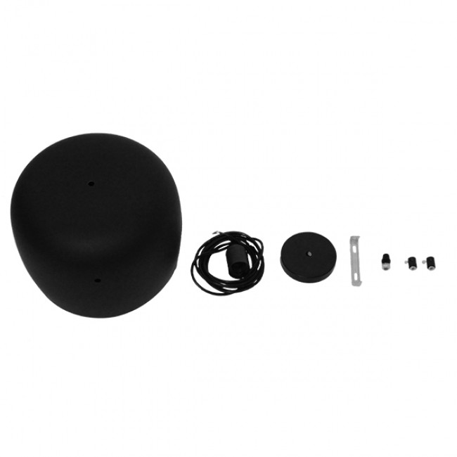Μοντέρνο Κρεμαστό Φωτιστικό Οροφής Μονόφωτο Μεταλλικό Μαύρο Λευκό Καμπάνα Φ25 GloboStar JASPER 01373 - 5