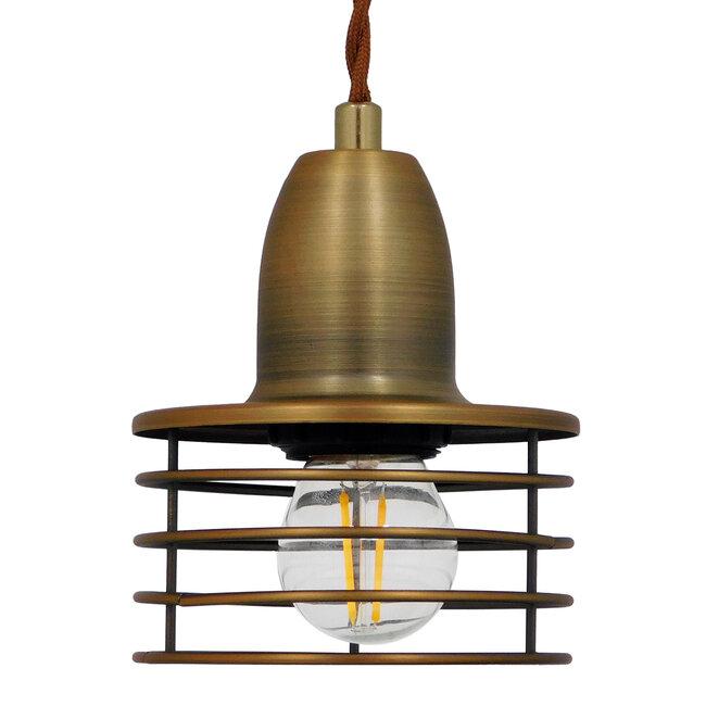 Μοντέρνο Industrial Κρεμαστό Φωτιστικό Οροφής Μονόφωτο Μεταλλικό Χρυσό Καμπάνα Φ11  MANHATTAN GOLD 01454 - 5