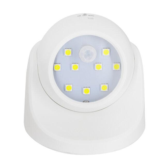79000 Λευκό Φωτιστικό Μπαταρίας σε Σχήμα Κάμερας LED SMD 3W 300lm με Αισθητήρα Ημέρας-Νύχτας και PIR Αισθητήρα Κίνησης Ψυχρό Λευκό 6000K - 3