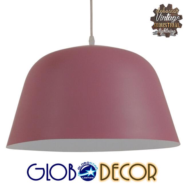 Μοντέρνο Κρεμαστό Φωτιστικό Οροφής Μονόφωτο Ροζ Μεταλλικό Καμπάνα Φ40  SOUTHVALE 01284 - 1