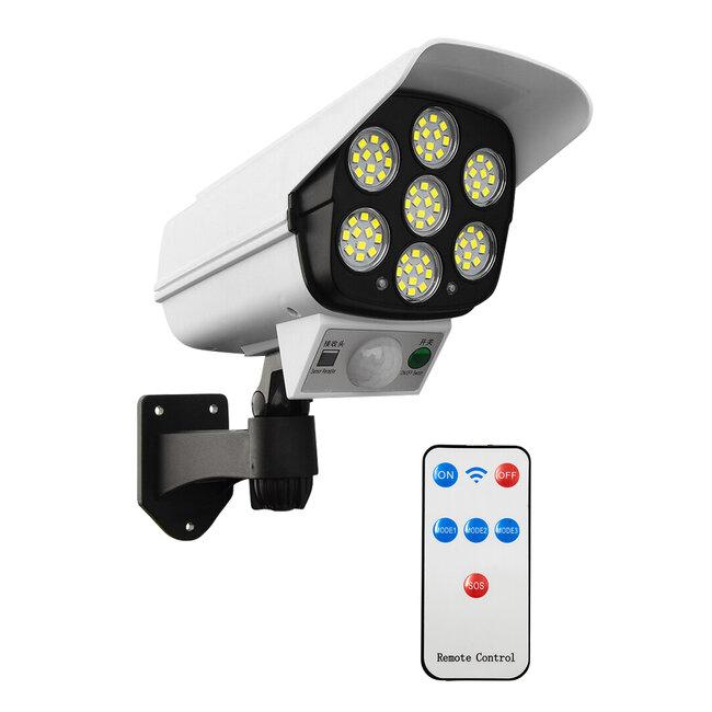 GloboStar® 71507 Αυτόνομο Ηλιακό Φωτιστικό Σχήμα Κάμερας LED SMD 20W 2000 lm με Ενσωματωμένη Μπαταρία 2600mAh - Φωτοβολταϊκό Πάνελ με Αισθητήρα Ημέρας-Νύχτας και PIR Αισθητήρα Κίνησης IP65 Ψυχρό Λευκό - 2