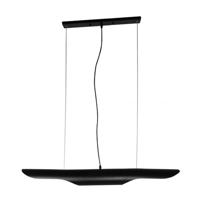 Μοντέρνο Κρεμαστό Φωτιστικό Οροφής 100cm Δίφωτο Μαύρο Χρυσό Μεταλλικό GloboStar NEBULA 01473 - 2